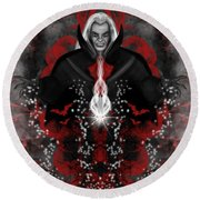 A Vampire Quest Fantasy Art Round Beach Towel