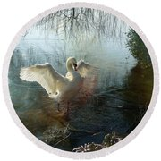 A Very Fine Swan Indeed Round Beach Towel