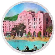 A View From Canoes Round Beach Towel