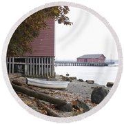 A View From Whidbey II Round Beach Towel by Henri Irizarri