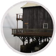 A View From Whidbey IIi Round Beach Towel by Henri Irizarri
