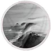 Round Beach Towel featuring the photograph A View Of Gods by Jorge Maia