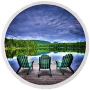 Round Beach Towel featuring the photograph A View Of Serenity by David Patterson