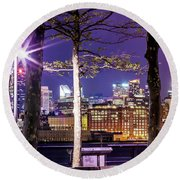 A View To Behold Round Beach Towel