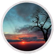 A Virginia Kind Of Sunrise Round Beach Towel