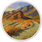A Walk In La Quinta Cove Round Beach Towel by Diane McClary