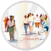 A Walk In The Park Round Beach Towel