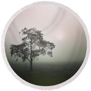 A Walk Through The Clouds #fog #nuneaton Round Beach Towel