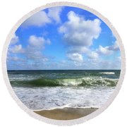 A Wave To Ride Round Beach Towel