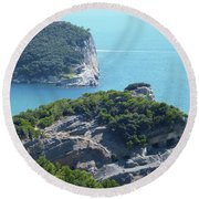 A Way To The Ocean Round Beach Towel