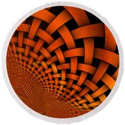 A Weaved And Wavy Abstract Round Beach Towel
