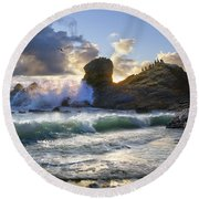 A Whisper In The Wind Round Beach Towel