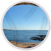A Window To The Baltic Sea Round Beach Towel
