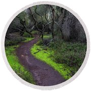 A Windy Path Round Beach Towel