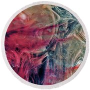 Round Beach Towel featuring the digital art A World Beyond by Linda Sannuti