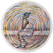 A World Of Thoughts Round Beach Towel