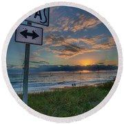 A1a Sunrise Round Beach Towel