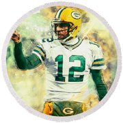 Aaron Rodgers Round Beach Towel