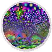 Round Beach Towel featuring the digital art Abanalyzed by Andrew Kotlinski