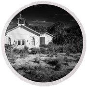 Round Beach Towel featuring the photograph Abandon by Marvin Spates
