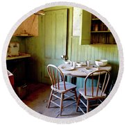 Abandoned Kitchen Round Beach Towel by Amelia Racca