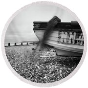 Round Beach Towel featuring the photograph Abandoned Nn405 Pinhole Photo by Will Gudgeon