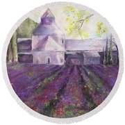 Abbey Senanque    Round Beach Towel by Robin Miller-Bookhout