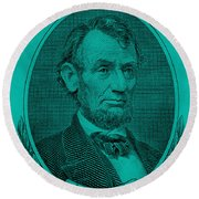 Round Beach Towel featuring the photograph Abe On The 5 Turquoise by Rob Hans