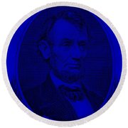 Round Beach Towel featuring the photograph Abe On The 5 Violet by Rob Hans