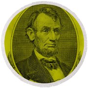 Round Beach Towel featuring the photograph Abe On The 5 Yellow by Rob Hans