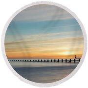 Aberdeen Beach Sunrise Round Beach Towel
