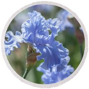 Abiqua Falls 1. The Beauty Of Irises Round Beach Towel