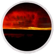 Abiquiu Reservoir  Round Beach Towel