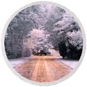 Round Beach Towel featuring the photograph Abney Park, London by Helga Novelli