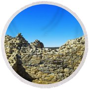Round Beach Towel featuring the photograph Abo Mission Ruins New Mexico by Jeff Swan