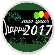 About New Year Round Beach Towel by Dani Awaludin