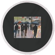 About Town Round Beach Towel