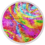 Above 1 Peter 4 Round Beach Towel