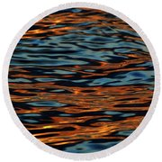 Above And Below The Waves  Round Beach Towel