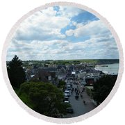 Above Arromanches-les-bains Round Beach Towel