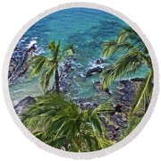 Above It All Round Beach Towel by James Roemmling