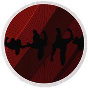 Above Perspective Round Beach Towel