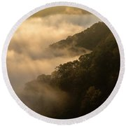 Above The Mist - D009960 Round Beach Towel