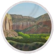Above The Ranch Round Beach Towel