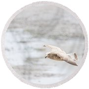Round Beach Towel featuring the photograph Above The Watten Sea 2 by Hannes Cmarits