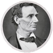 Abraham Lincoln Round Beach Towel by Alexander Hesler
