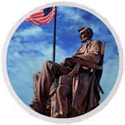Abraham Lincoln Birthplace 002 Round Beach Towel