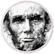 Abraham Lincoln For Eternity Round Beach Towel