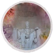 Abraham Lincoln Memorial At Spring Round Beach Towel