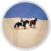 Sandblast - Pismo Dunes Round Beach Towel